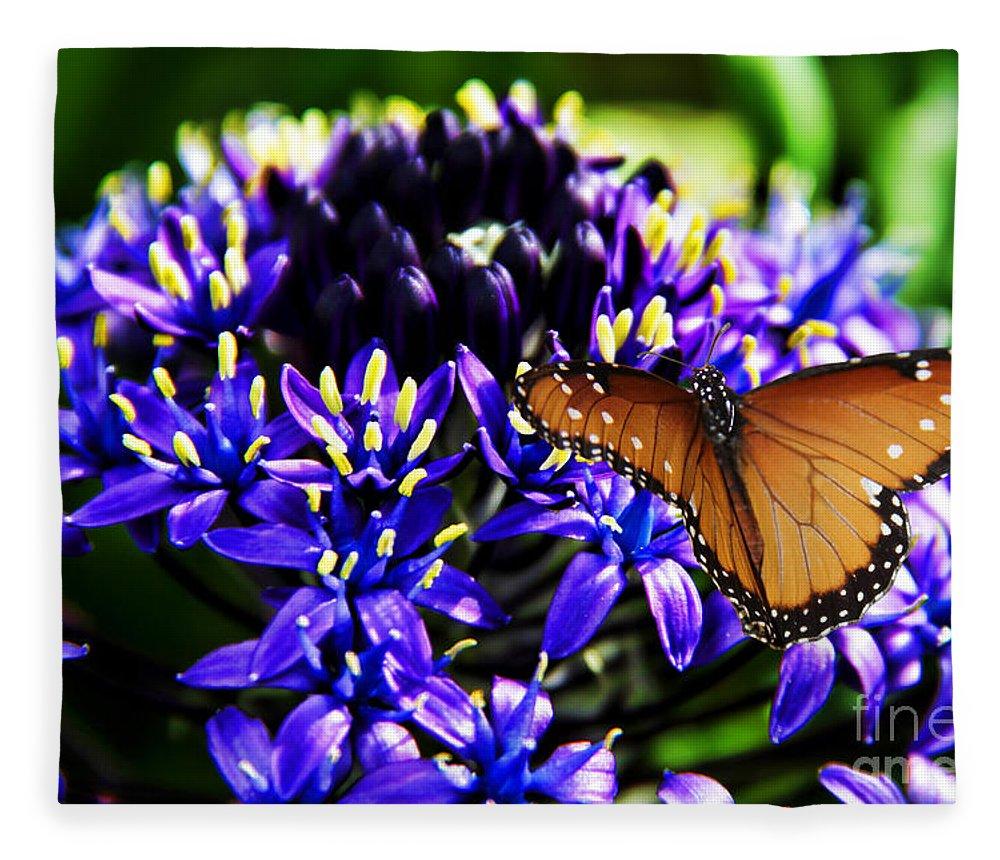 Purple World Fleece Blanket featuring the photograph Purple World by Mariola Bitner