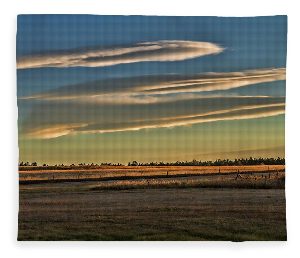 Grassland Fleece Blanket featuring the photograph Quiet on the Land by Alana Thrower