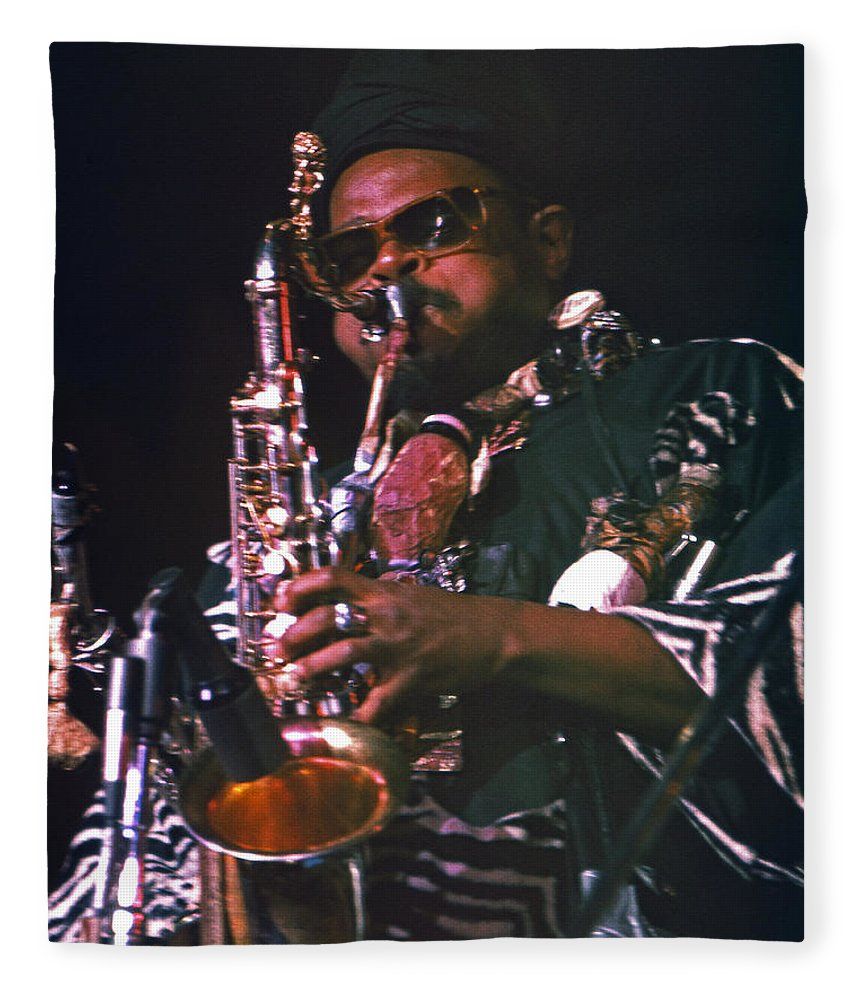 Rahsaan Roland Kirk Fleece Blanket featuring the photograph Rahsaan Roland Kirk 4 by Lee Santa