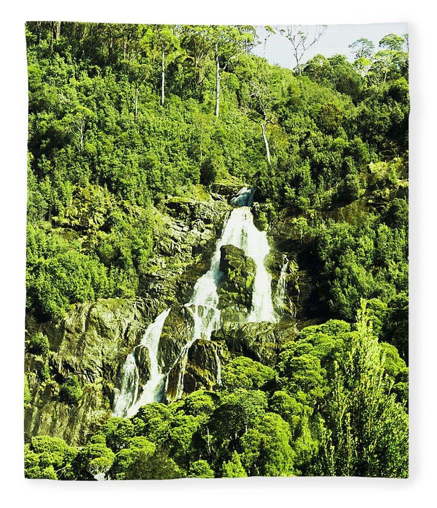 Rainforest Fleece Blanket featuring the photograph Rainforest Rapids by Jorgo Photography - Wall Art Gallery