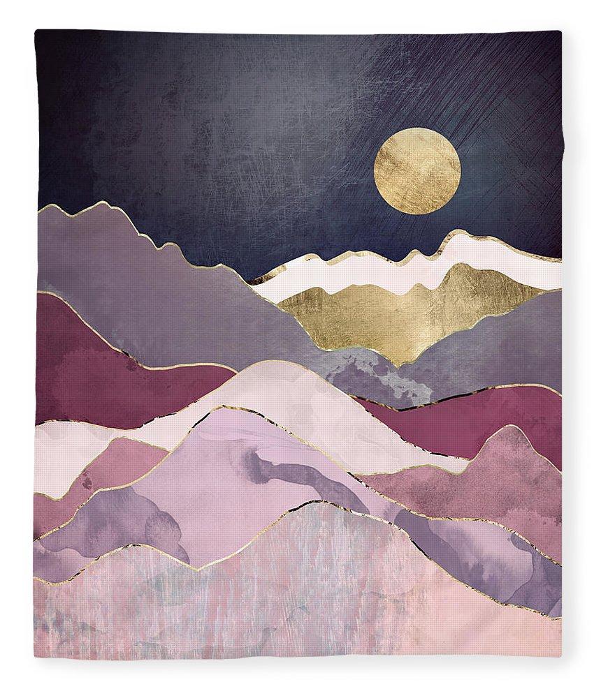Raspberry Fleece Blanket featuring the digital art Raspberry Dream by Spacefrog Designs