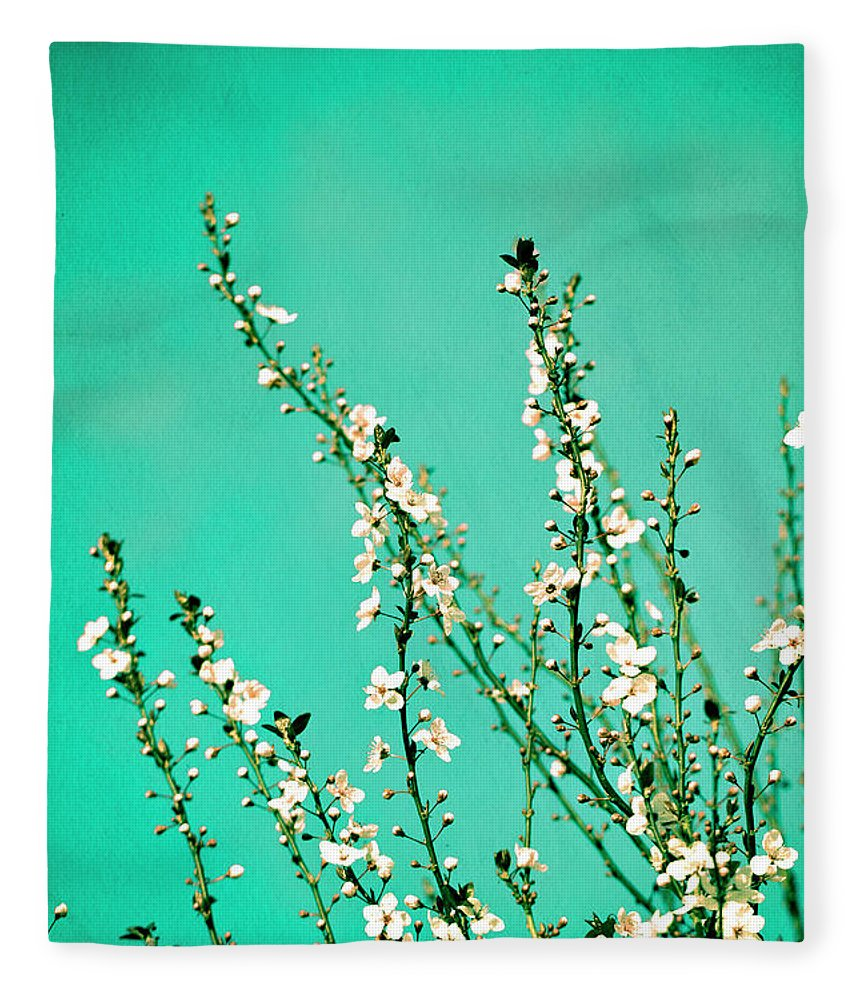 Flowers Fleece Blanket featuring the photograph Reach - Botanical Wall Art by Melanie Alexandra Price