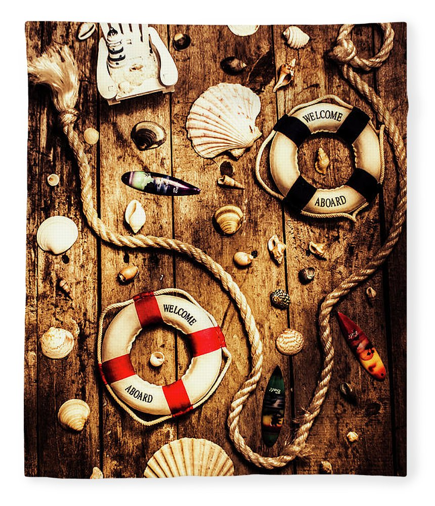 Nautical Fleece Blanket featuring the photograph Rearranging The Deck Chairs by Jorgo Photography - Wall Art Gallery