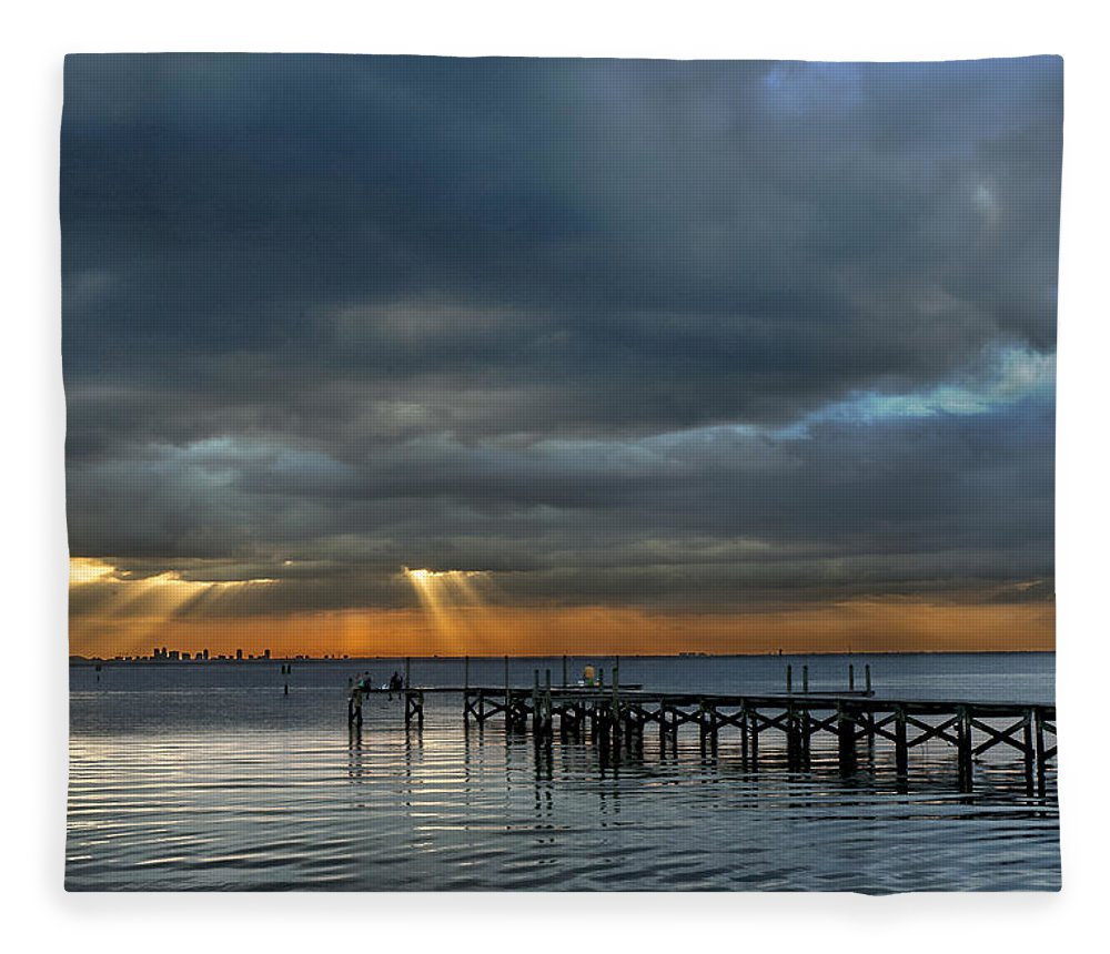 Sunset Fleece Blanket featuring the photograph Rebirth by Norman Johnson