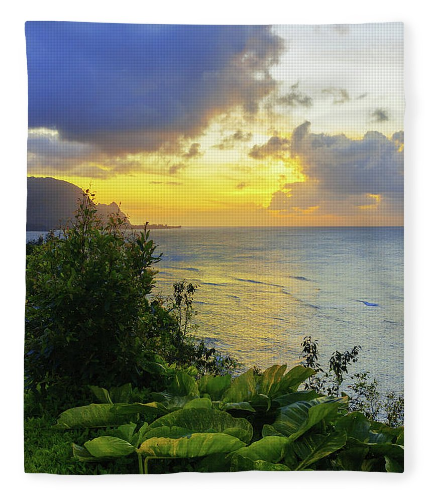 Beach Fleece Blanket featuring the photograph Return by Chad Dutson