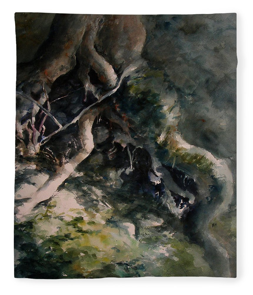 Nature Fleece Blanket featuring the painting Revealed by William Russell Nowicki