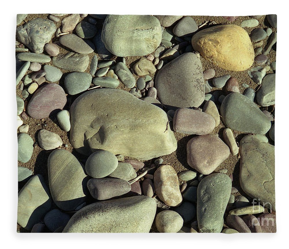 River Rock Fleece Blanket featuring the photograph River Rock by Richard Rizzo