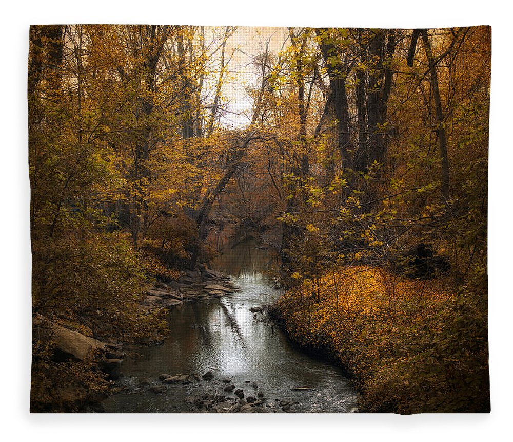 Seasons Fleece Blanket featuring the photograph River Views by Jessica Jenney