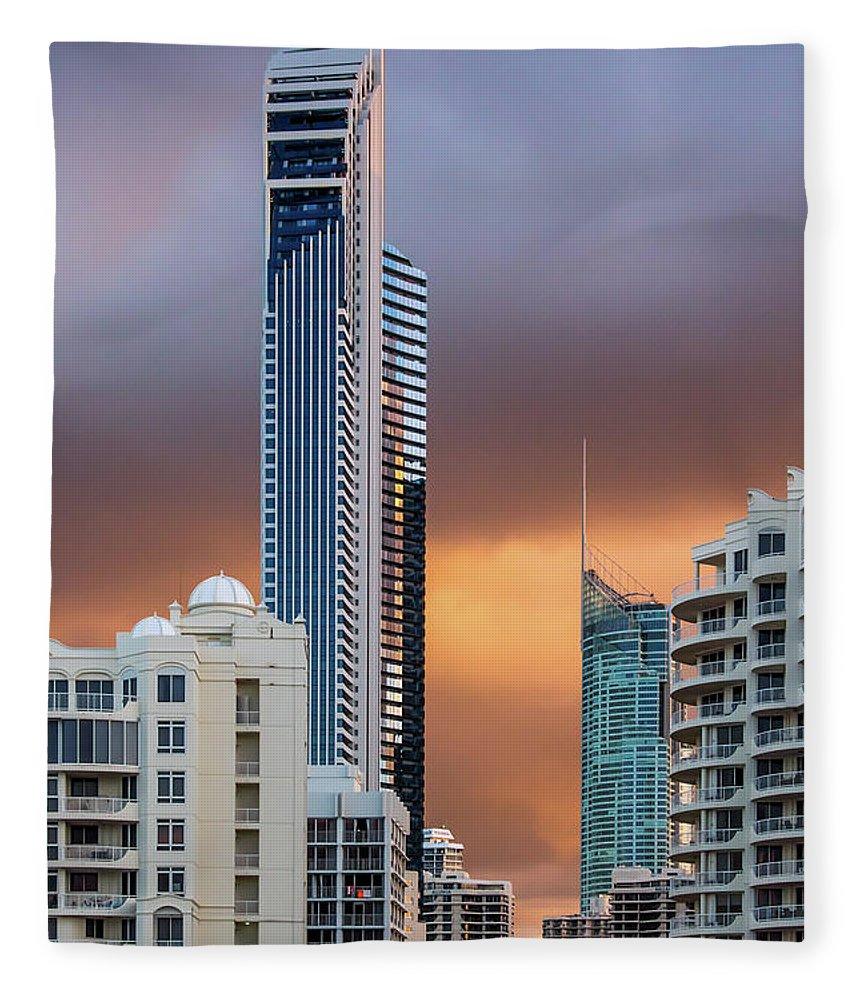 Ausrtalian City Skyline Fleece Blanket featuring the photograph Rock N Rolla Cherry Cola by Az Jackson