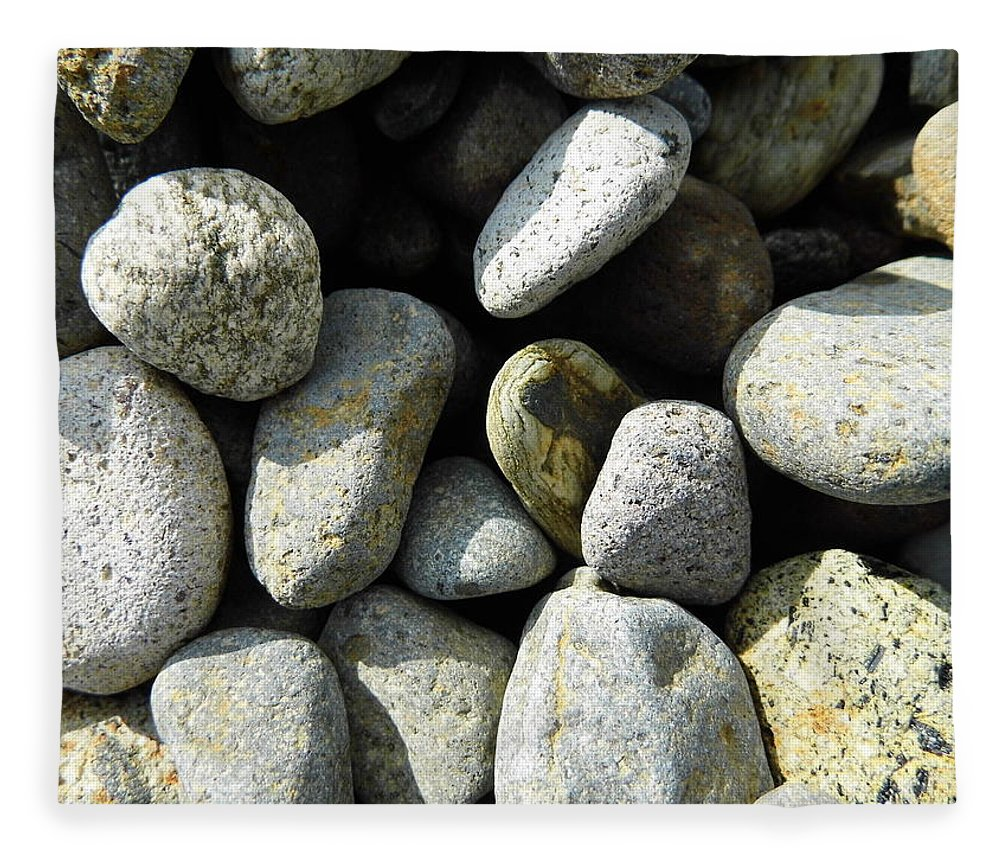 Rock Fleece Blanket featuring the digital art Rocks by Palzattila