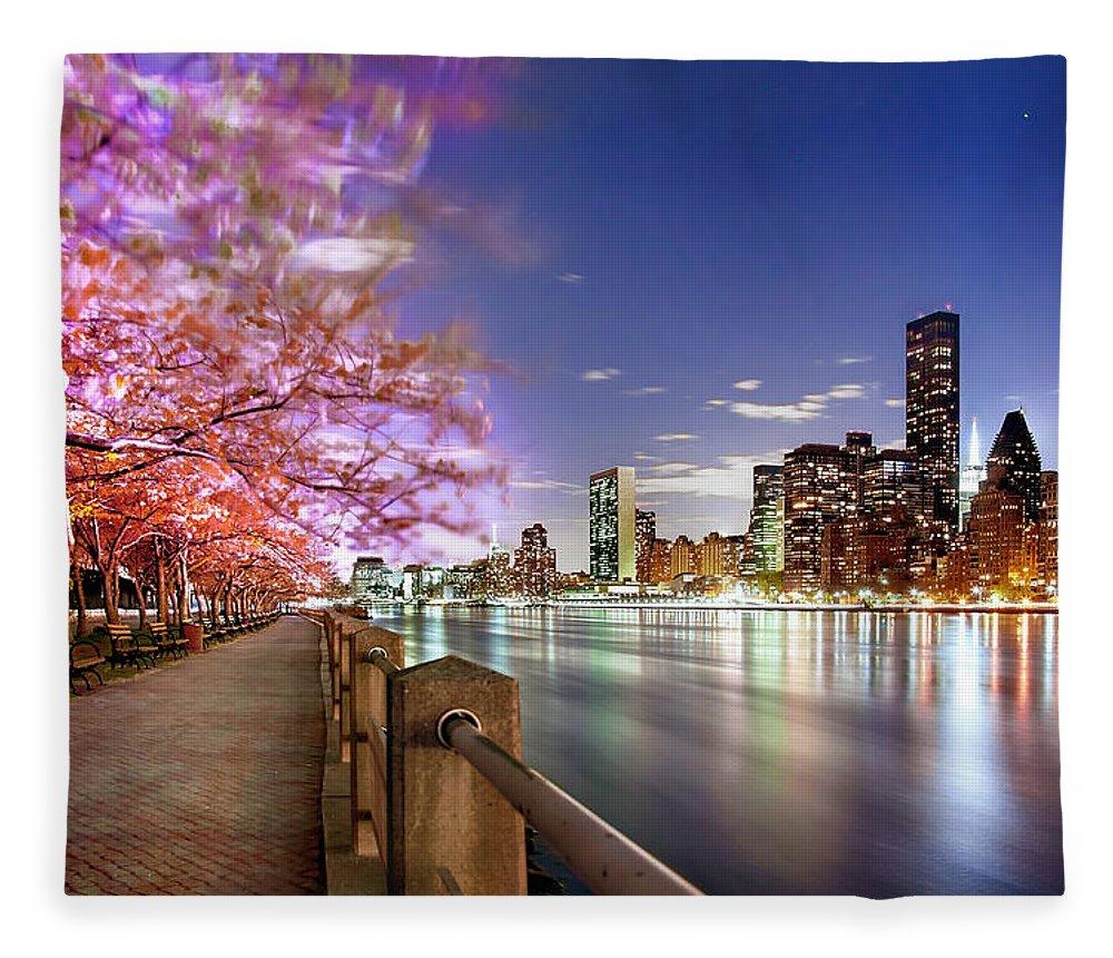 New York City Fleece Blanket featuring the photograph Romantic Blooms by Az Jackson