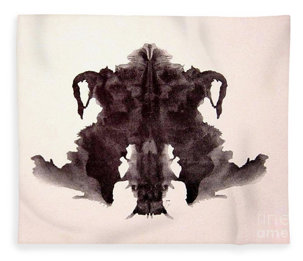 Science Fleece Blanket featuring the photograph Rorschach Test Card No. 4 by Science Source