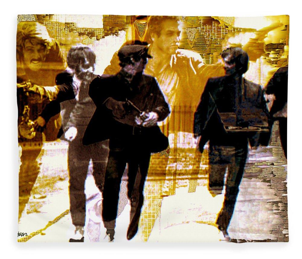 Beatles Fleece Blanket featuring the photograph Running Under the Gun by Seth Weaver