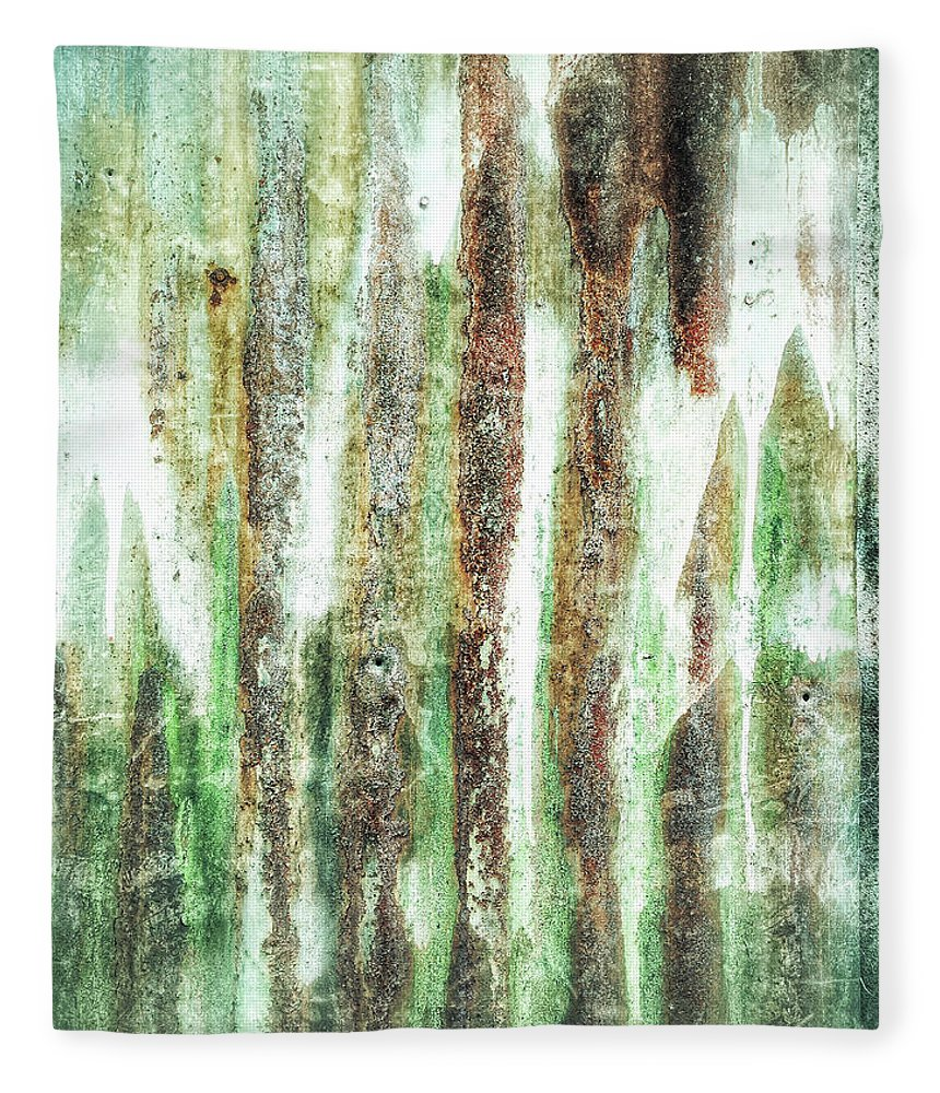 Abstract Fleece Blanket featuring the photograph Rusty Metal Background by Tom Gowanlock