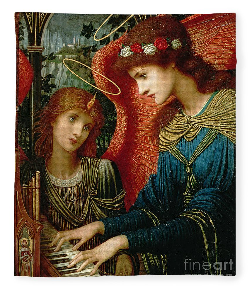St. Cecilia Fleece Blanket featuring the painting Saint Cecilia by John Melhuish Strukdwic