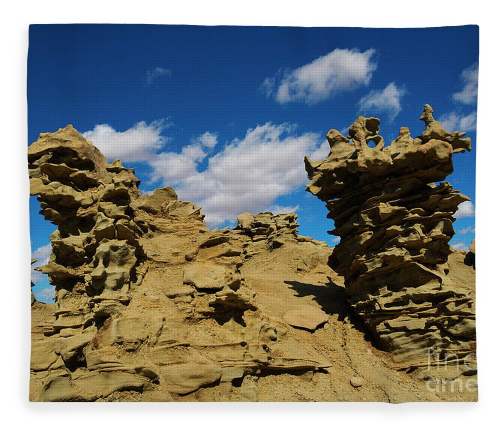 Siltstone Fleece Blanket featuring the photograph Sand Demons by Mike Dawson