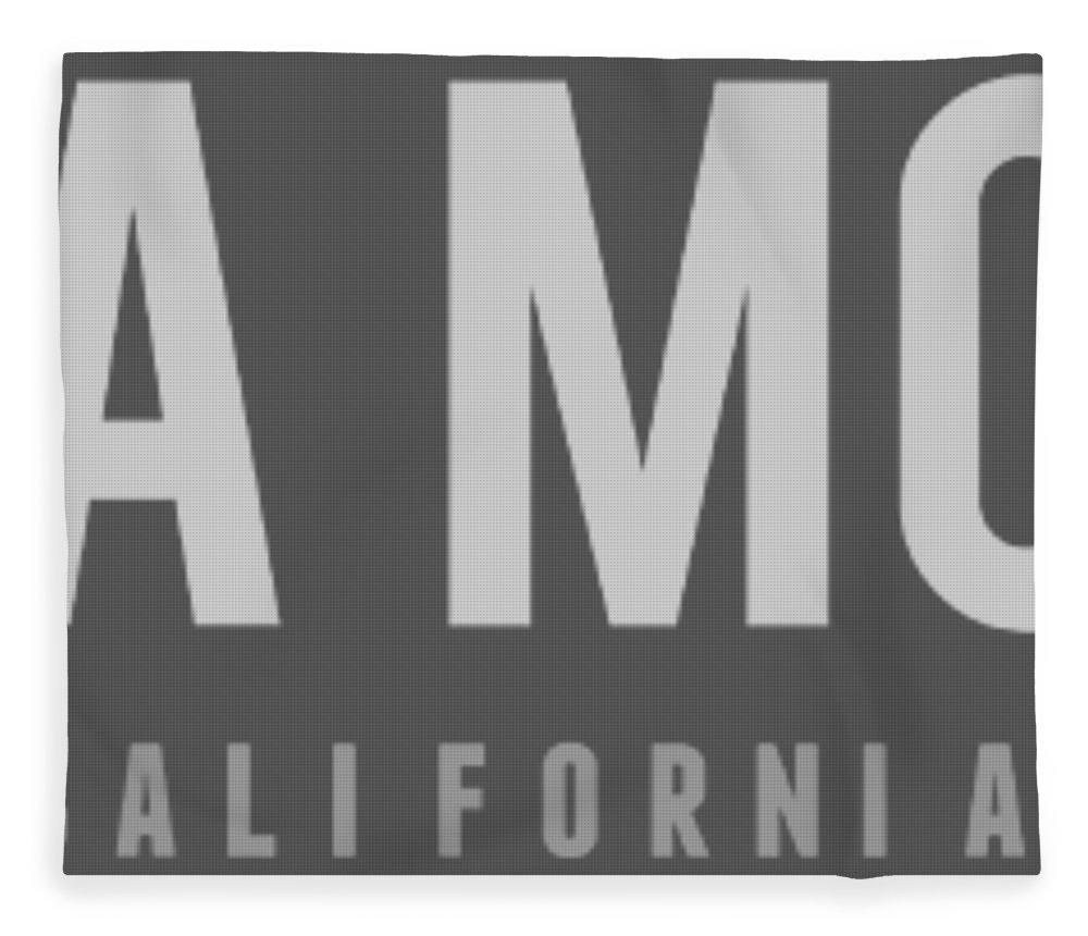 Santa Monica Fleece Blanket featuring the photograph Santa Monica California by Sean McDunn