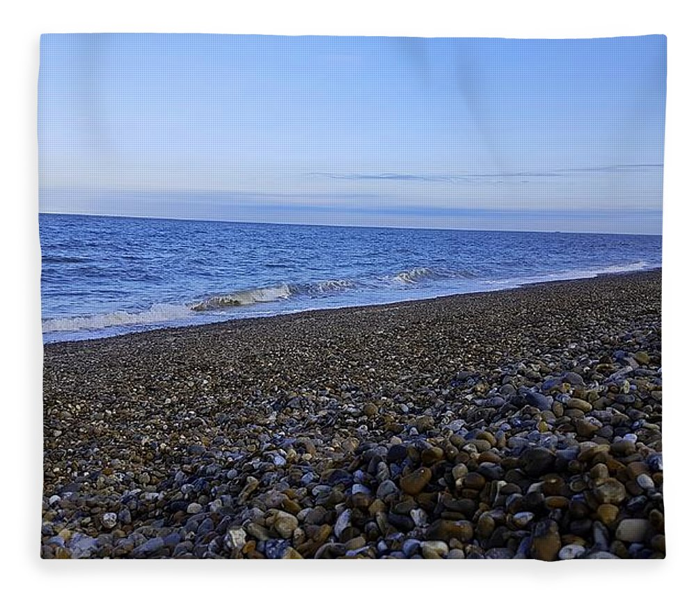 Beach Fleece Blanket featuring the photograph Sea Escape In Cool Blue by Rowena Tutty