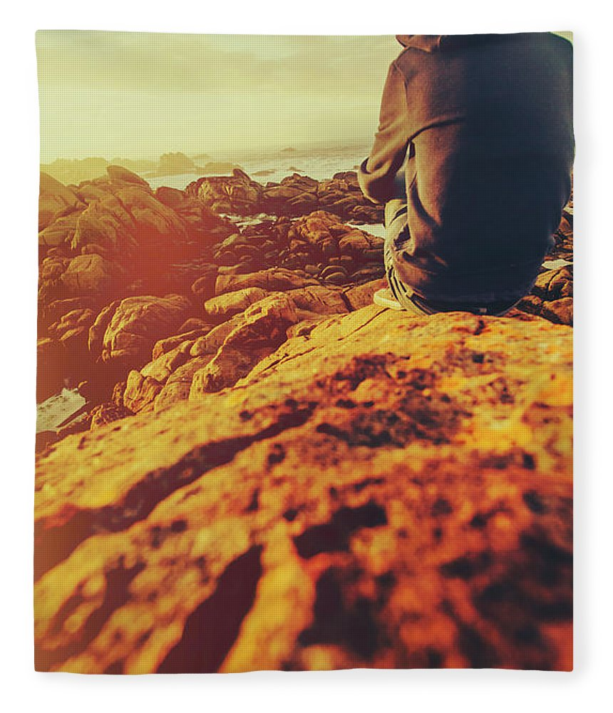 Sea Fleece Blanket featuring the photograph Sea Vacation Wonders by Jorgo Photography - Wall Art Gallery