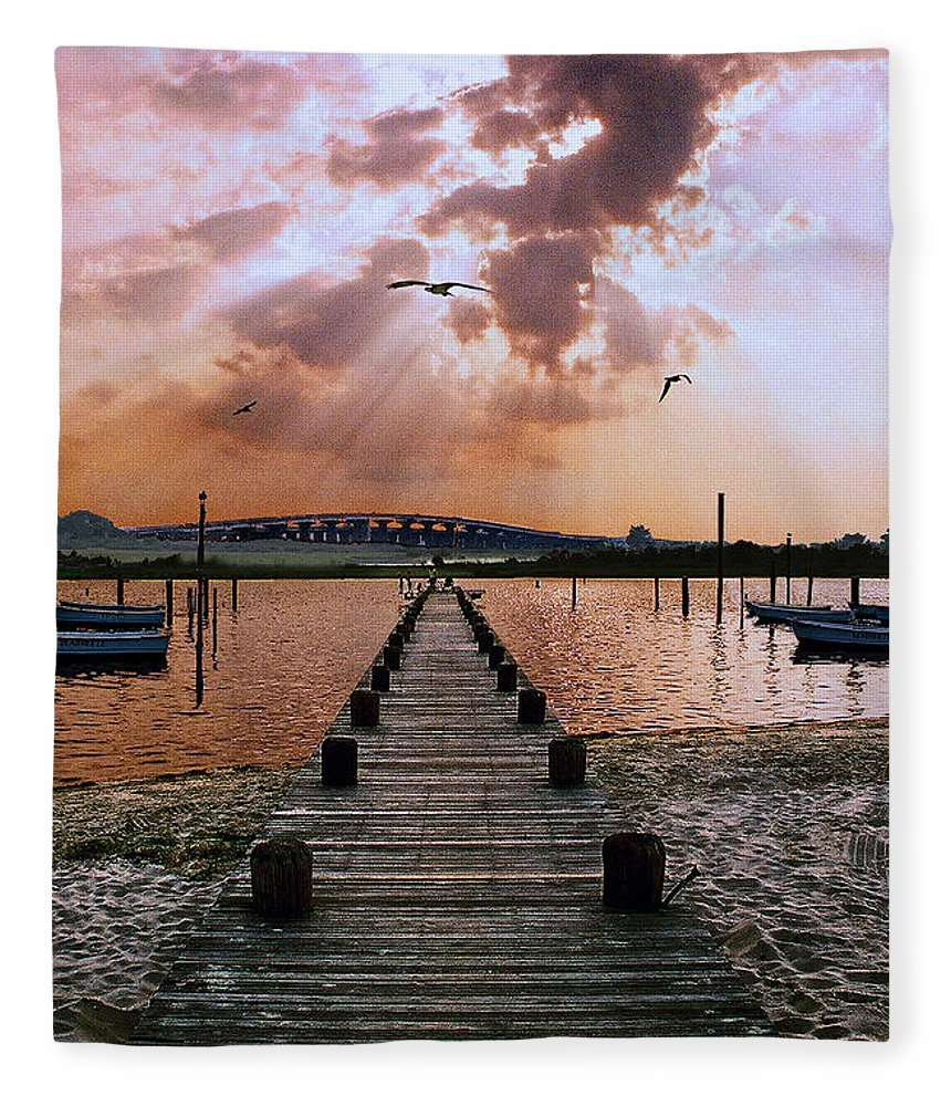 Seascape Fleece Blanket featuring the photograph Seaside by Steve Karol