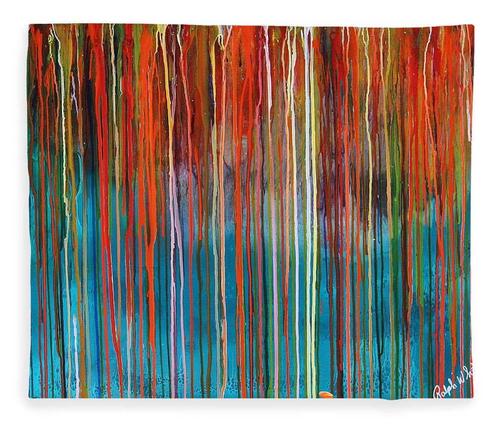 Fusionart Fleece Blanket featuring the painting Seed by Ralph White
