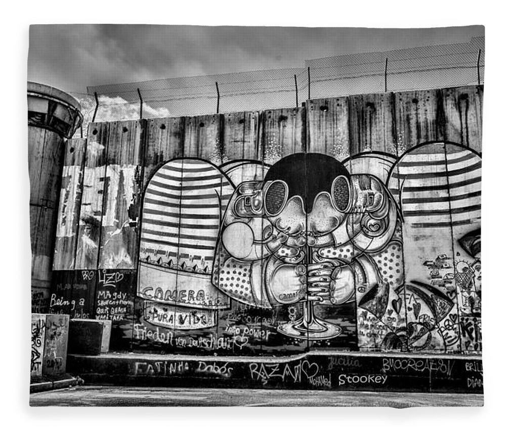 Graffiti Fleece Blanket featuring the photograph Separation by Stephen Stookey