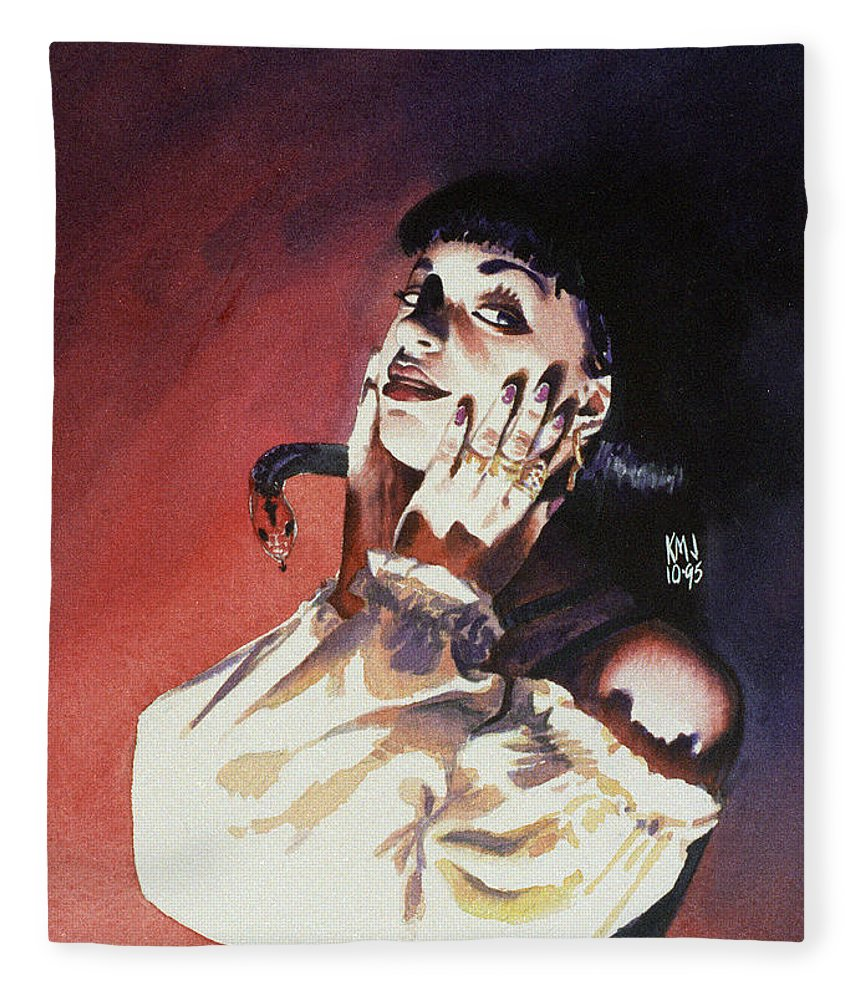 Women Fleece Blanket featuring the painting Set by Ken Meyer jr