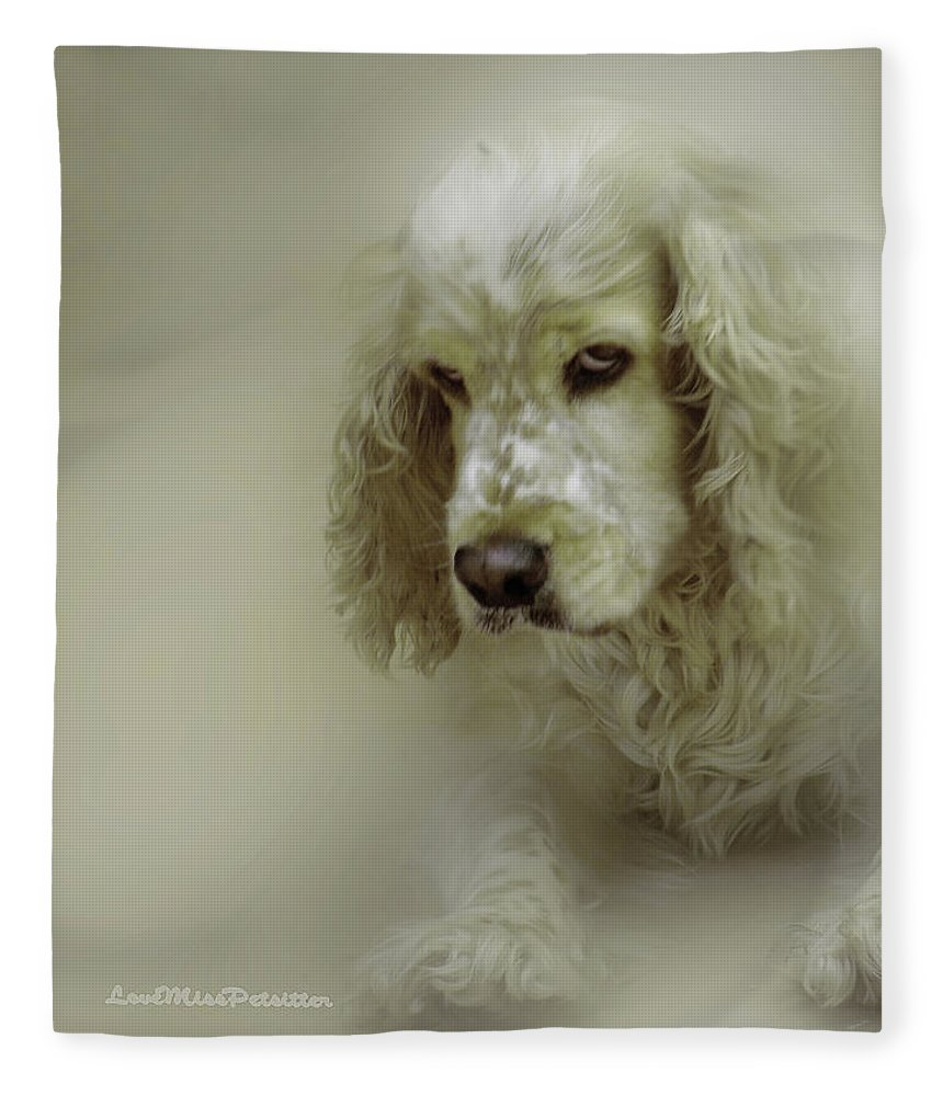 Art Fleece Blanket featuring the digital art Saint Shaggy Art 7 by Miss Pet Sitter