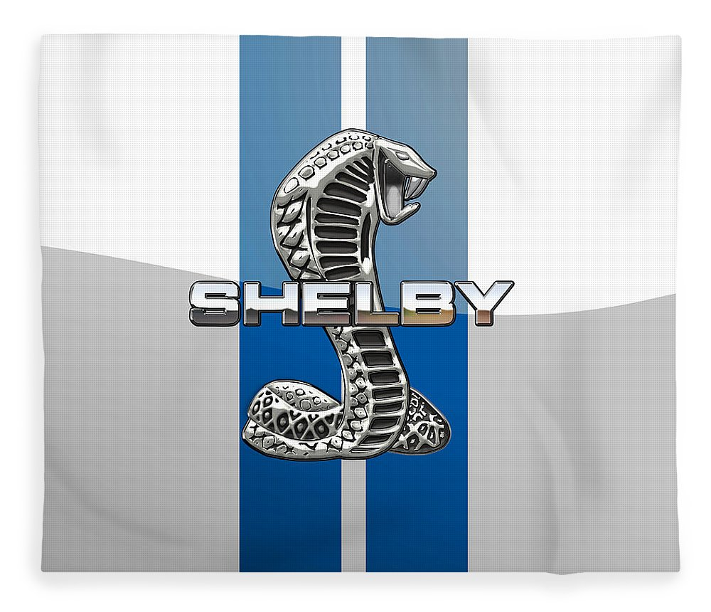 'auto Badges' Collection By Serge Averbukh Fleece Blanket featuring the photograph Shelby Cobra - 3D Badge by Serge Averbukh