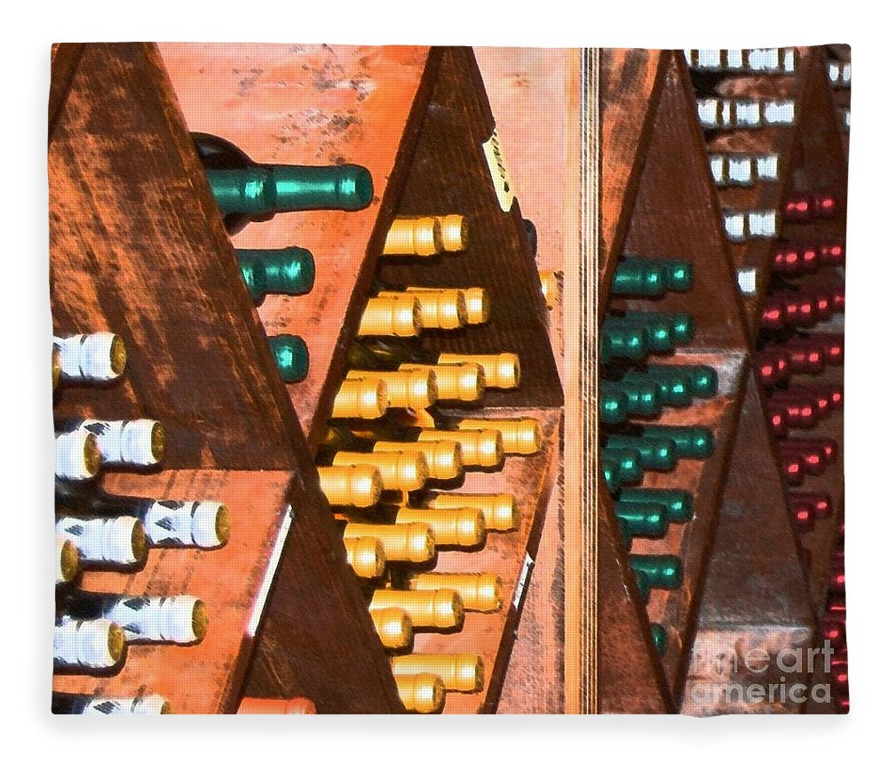 Wine Fleece Blanket featuring the photograph Sideways by Debbi Granruth
