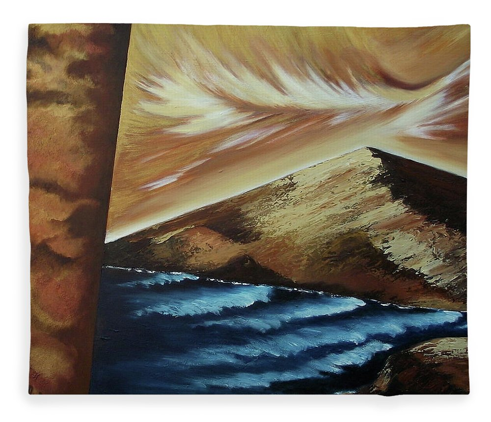 Fleece Blanket featuring the painting Sign of Truth by Ara Elena