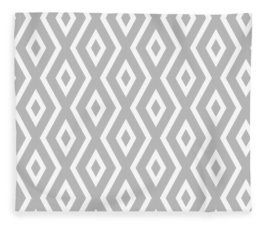Silver Fleece Blanket featuring the mixed media Silver Pattern by Christina Rollo