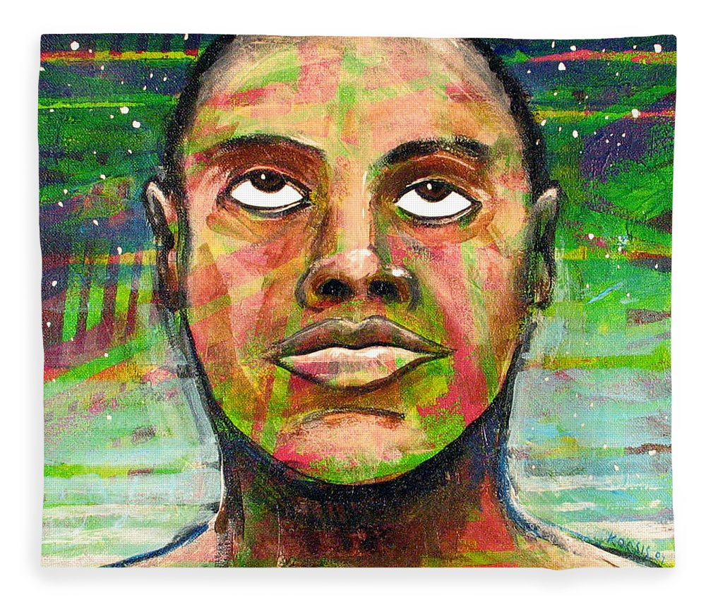 Fleece Blanket featuring the painting Simply Amazing by Rollin Kocsis