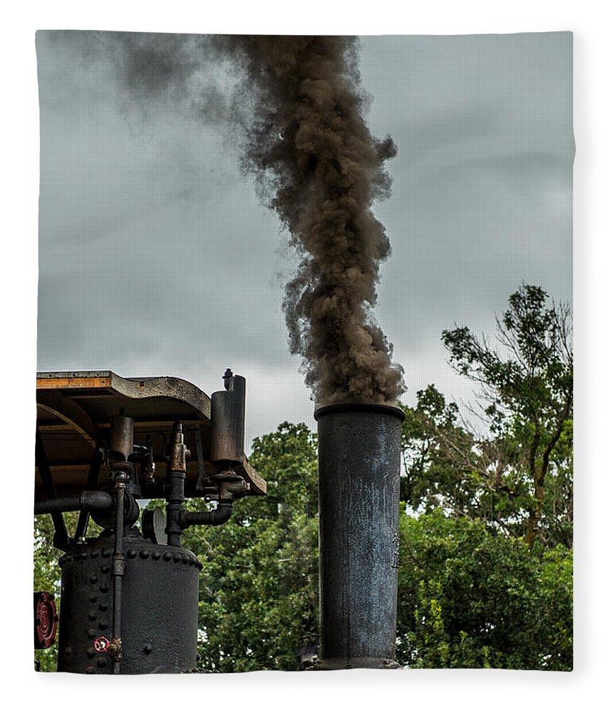 Rumley Fleece Blanket featuring the photograph Smokin by Paul Freidlund