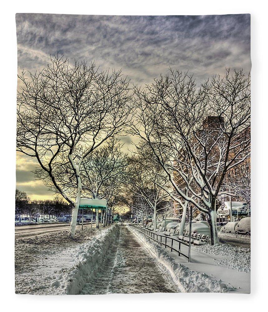 Snow Fleece Blanket featuring the photograph Snowbound by Evelina Kremsdorf