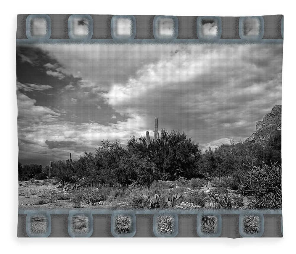 Arizona Fleece Blanket featuring the photograph Sonoran Afternoon H10 by Mark Myhaver