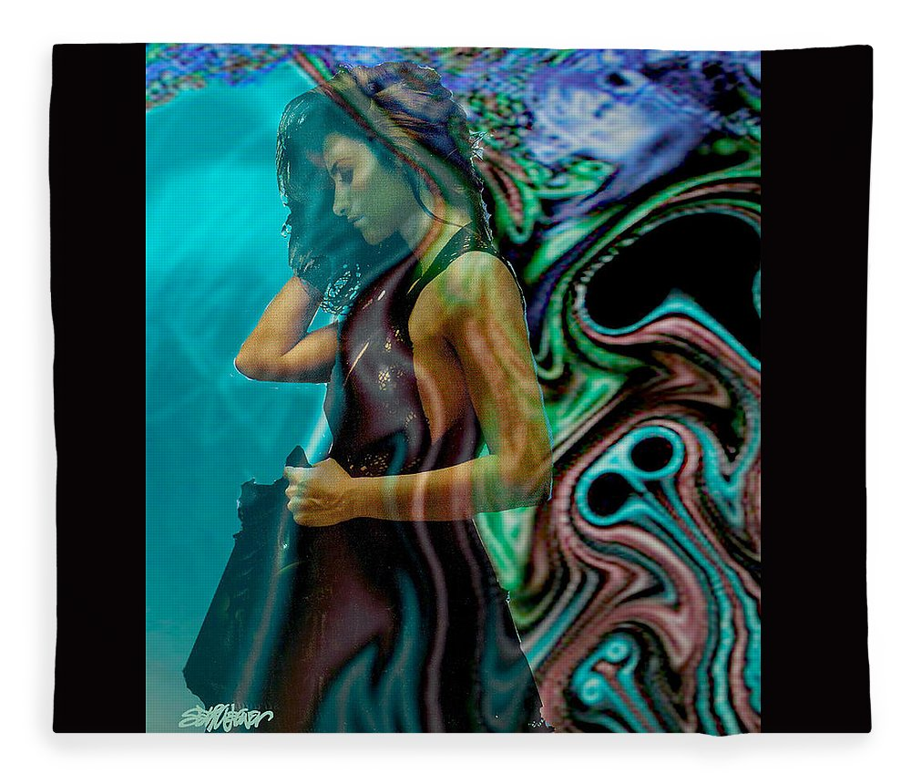Beautiful Women Fleece Blanket featuring the digital art Spell of a Woman by Seth Weaver