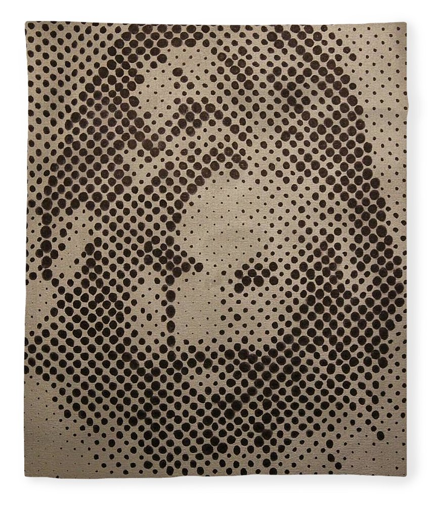 Biblepaintings God Jesus Christ Christian Christianity Bible Gallery Fine Art Steven Louis Doucette Fleece Blanket featuring the painting Spotless by Steven Louis Doucette