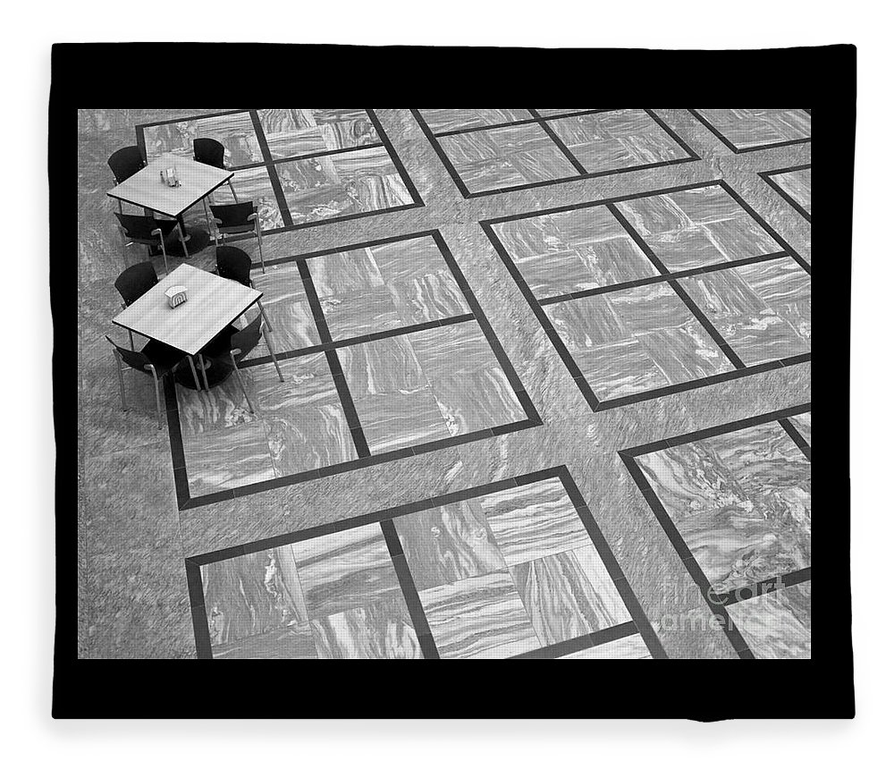 Squares Fleece Blanket featuring the photograph Squared by Ann Horn