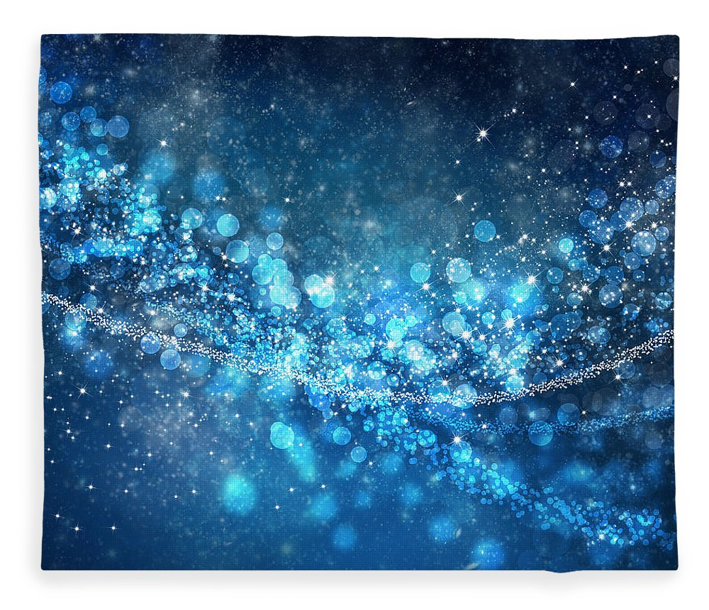Abstract Fleece Blanket featuring the photograph Stars And Bokeh by Setsiri Silapasuwanchai