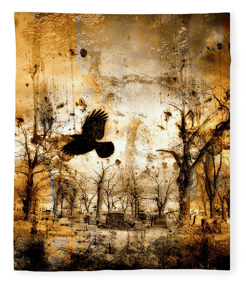Surrealism Fleece Blanket featuring the photograph Start Of Chaos by Gothicrow Images
