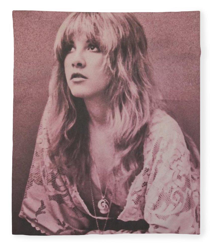 Stevie Nicks Fleece Blanket featuring the photograph Stevie Nicks by Donna Wilson