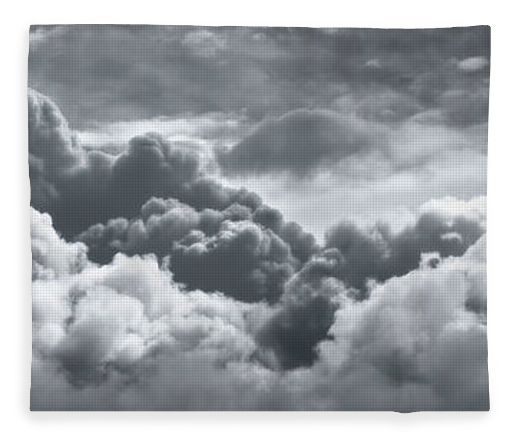 Weather Fleece Blanket featuring the photograph Storm Clouds Over Sheboygan by Scott Norris