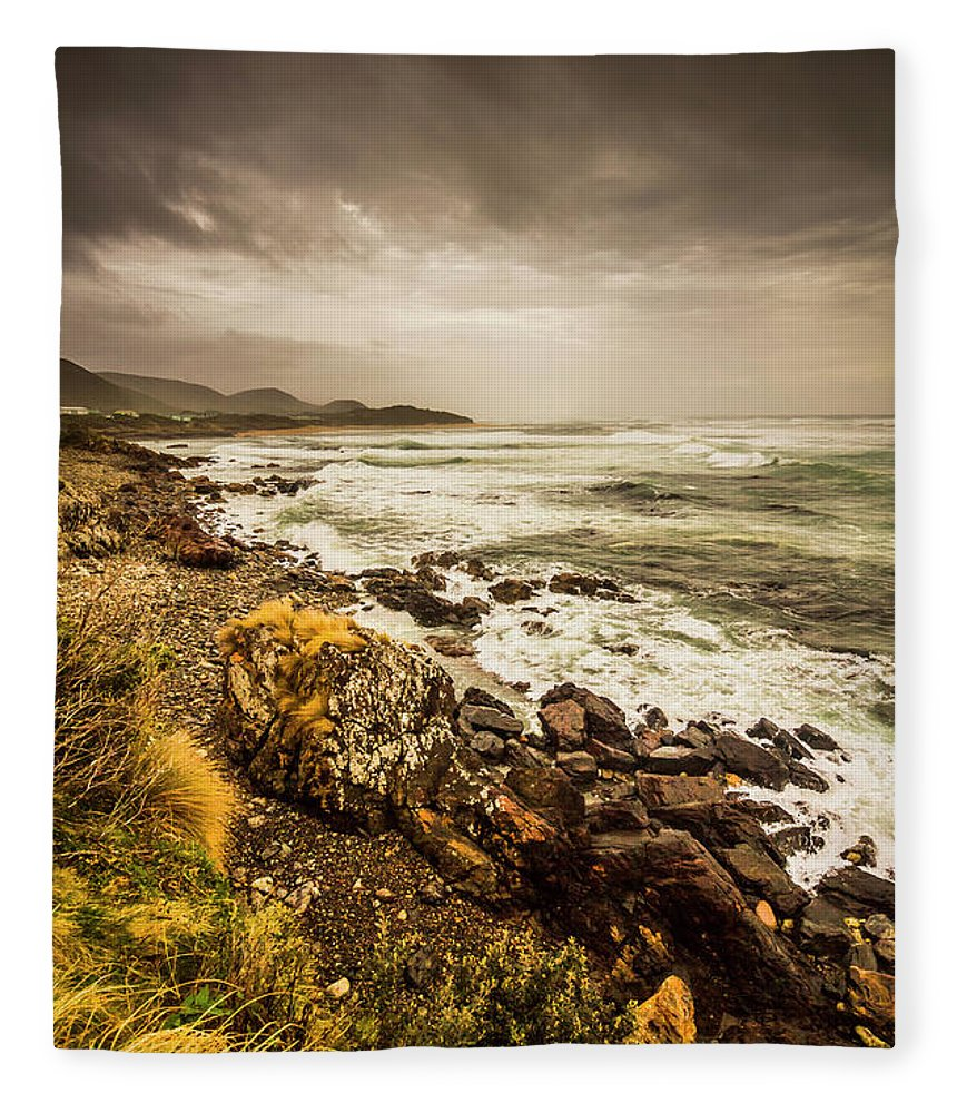 Overcast Fleece Blanket featuring the photograph Storm Season by Jorgo Photography - Wall Art Gallery