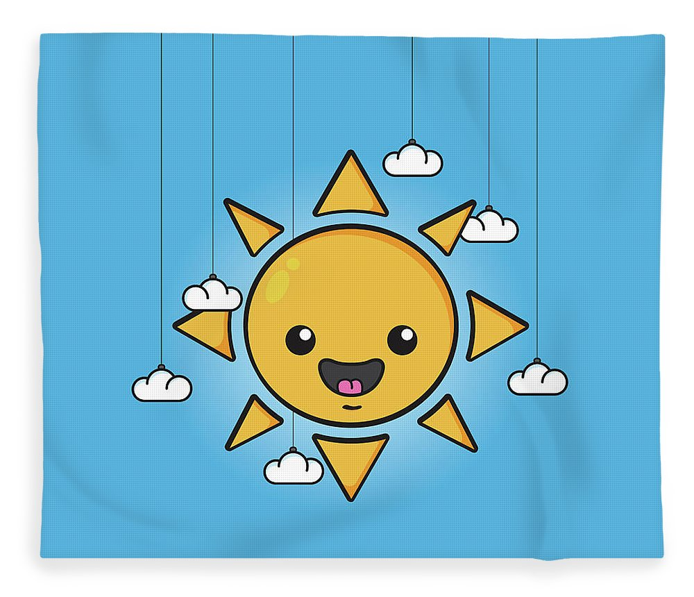 Sun Fleece Blanket featuring the digital art Sun Is Shining In The Sky by Samuel Whitton