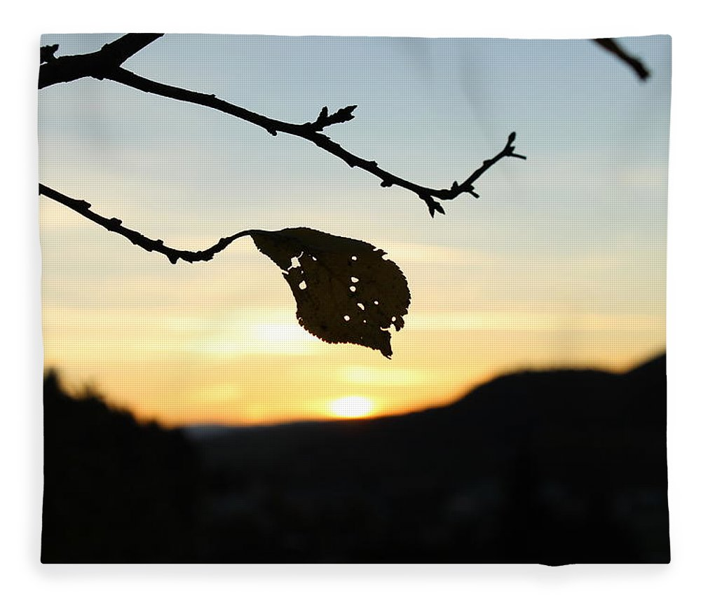 Sunset Fleece Blanket featuring the photograph Sunset by Alena Madosova