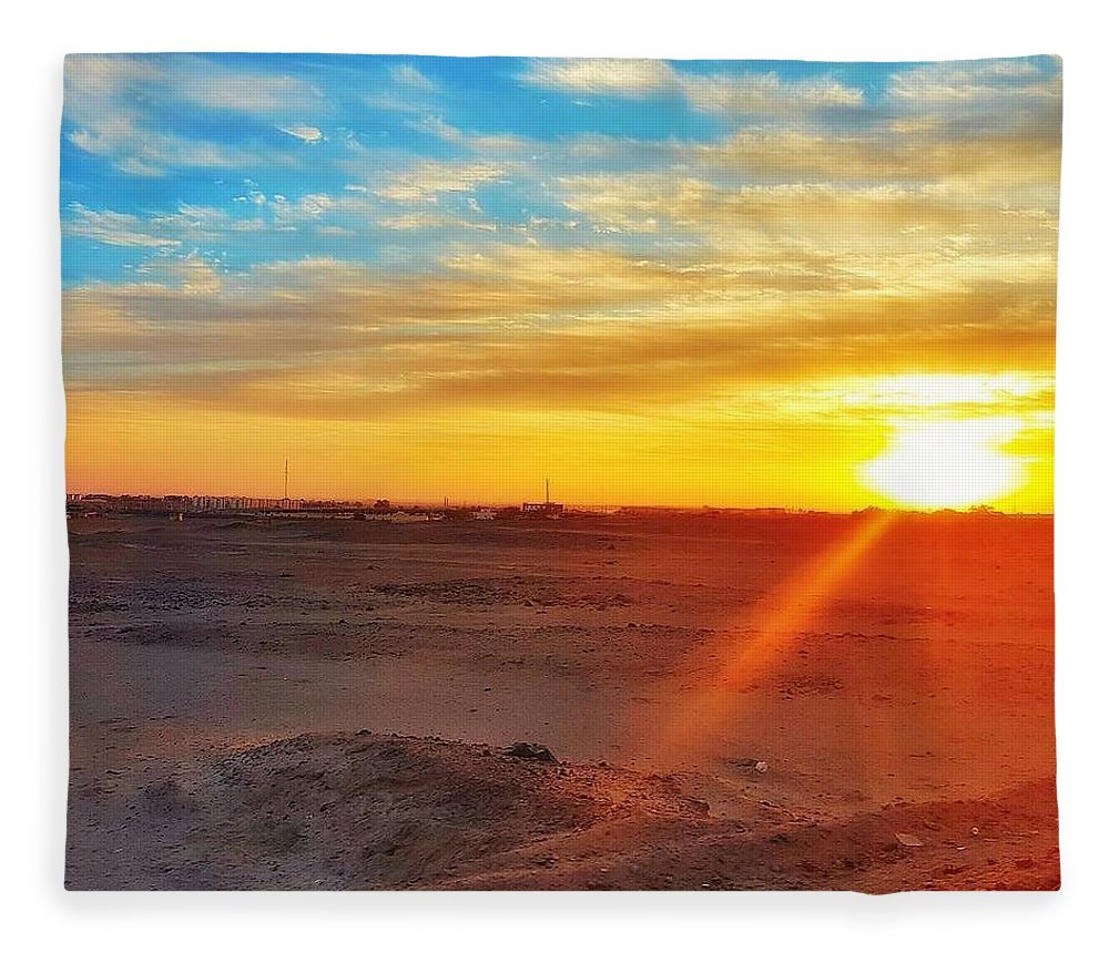Sunset Fleece Blanket featuring the photograph Sunset in Egypt by Usman Idrees