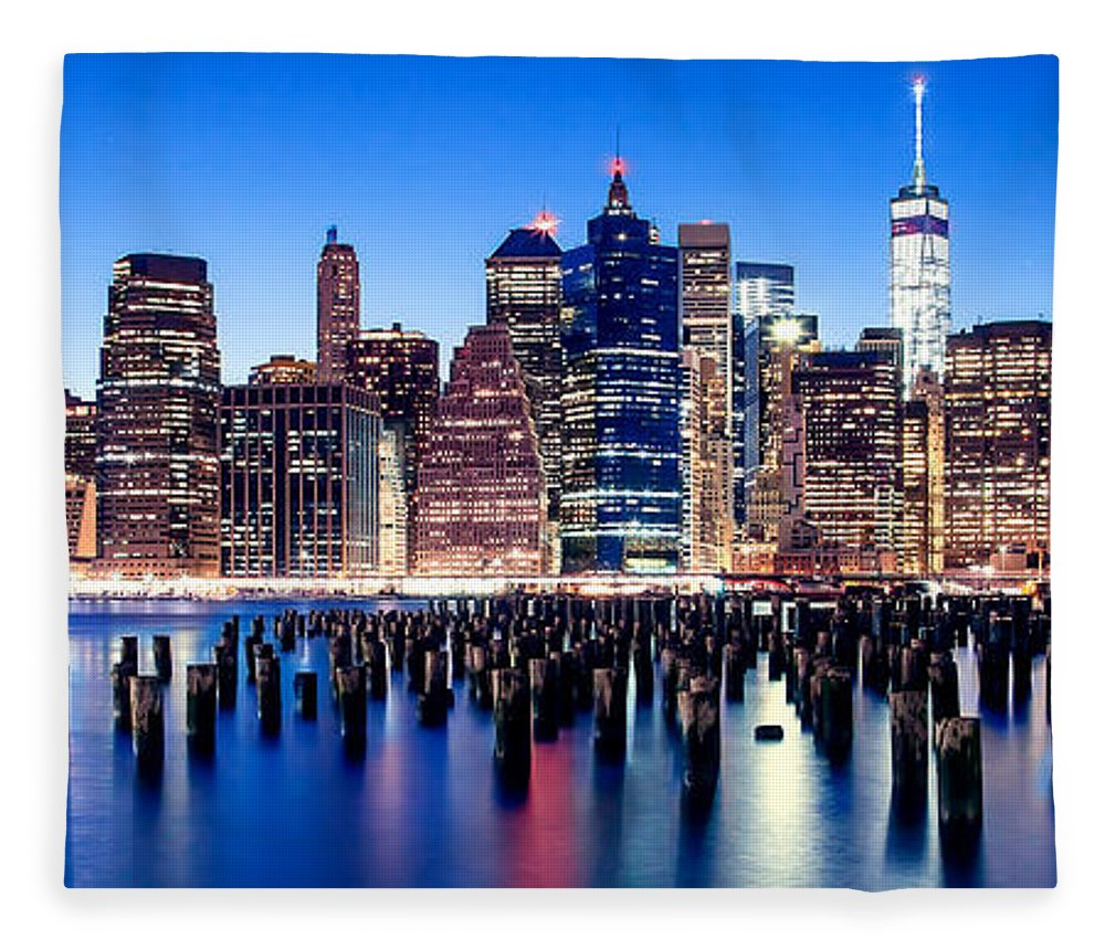New York City Fleece Blanket featuring the photograph Magic Manhattan by Az Jackson