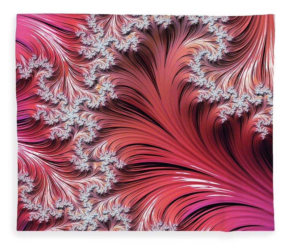 Sunset Romance Abstract Fleece Blanket featuring the digital art Sunset Romance Abstract by Georgiana Romanovna