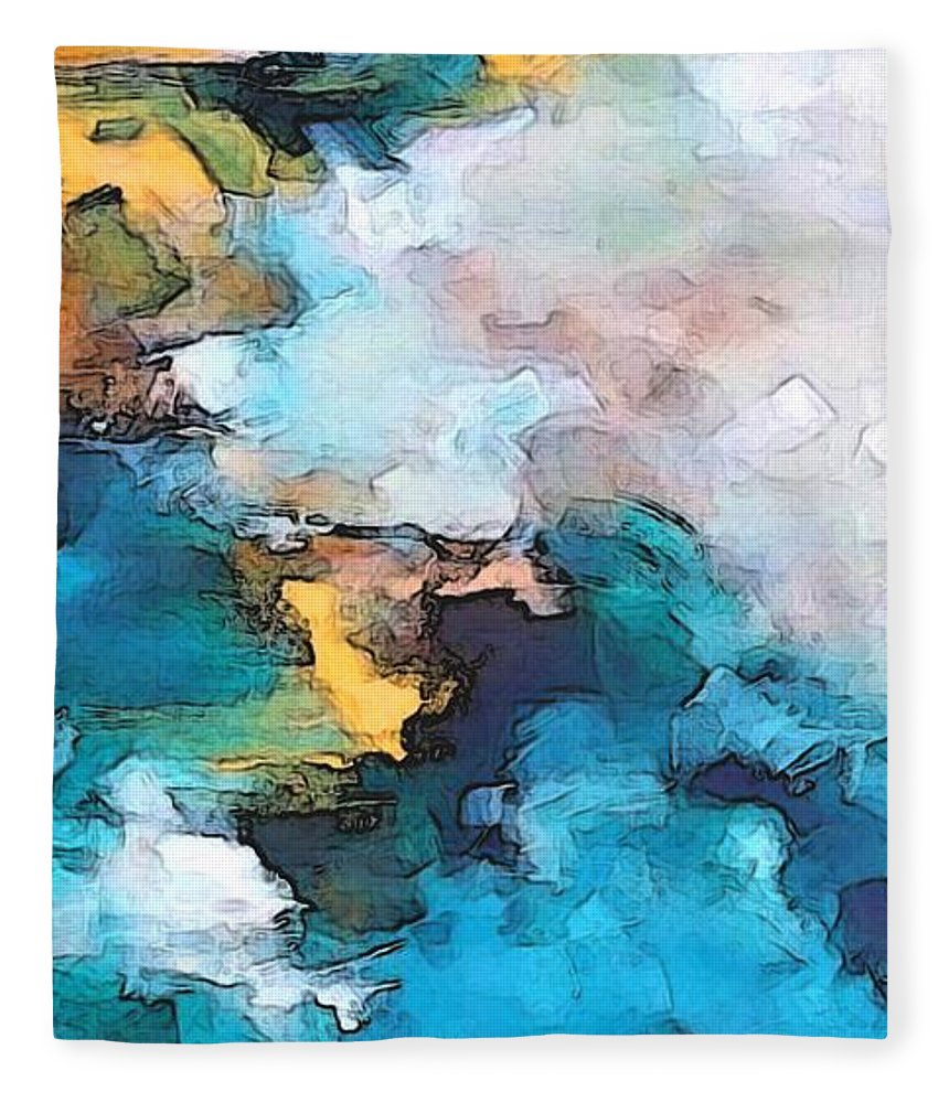 Abstract Fleece Blanket featuring the digital art Sweet Memory Shades by Linda Mears
